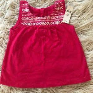 Gap embroidered cotton tank